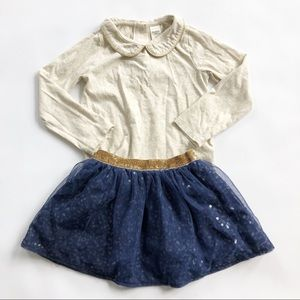 OshKosh Navy sequin Skirt Outfit